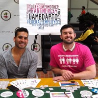 Lambda members at the table for Community Day