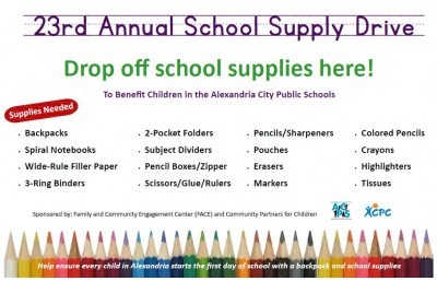 Supplies needed: backpacks, spiral notebooks, wide rule filler paper, 3 ring binders, 2 pocket folders, subject dividers, pencil boxes, scissors, glue, rulers, pencils, sharpeners, pouches, erasers, markers, coloring pencils, crayons, hilighters, tissues